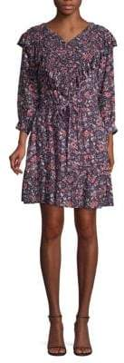 Rebecca Taylor Cotton Ruffled Floral Dress