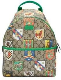 Gucci Kid's GG Crests Backpack