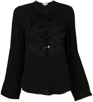 MICHAEL Michael Kors lace appliqué bell-sleeve blouse