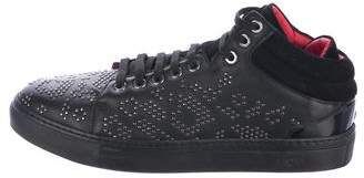 MCM Studded Leather Sneakers