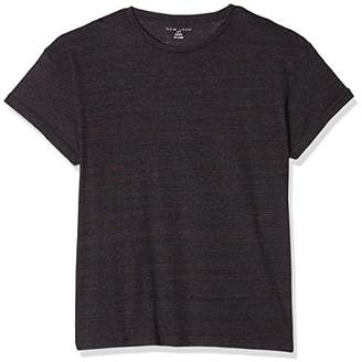 New Look Men's Purple Fabric Interest High Roll T-Shirt,2X-Small (Manufacturer Size: 49)