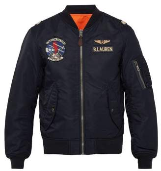 Polo Ralph Lauren Reversible Twill Bomber Jacket - Mens - Navy