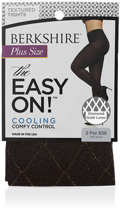 BERKSHIRE HOSIERY Berkshire Hosiery Diamond Gold Lurex Tights-Plus