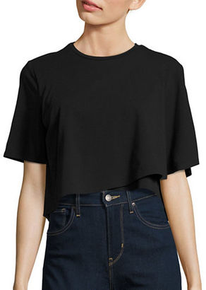 Kendall + Kylie Draped Cropped Tee $68 thestylecure.com
