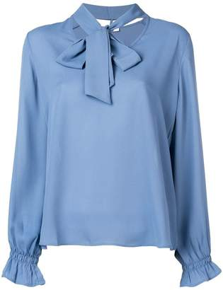 Blugirl neck-tied long sleeve blouse