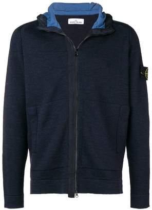 Stone Island zipped hooded cardigan