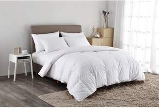 Pure Down Puredown White Goose Down Comforter-600 Fill Power-King/Cal King-Cotton Shell 500TC-Stripe White