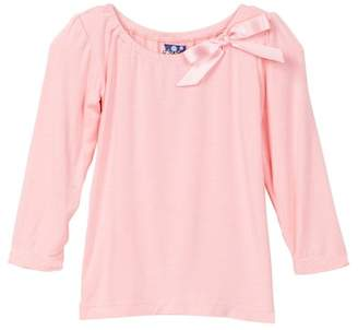 Kickee Pants Solid Long Sleeve Bow Tee (Baby, Toddler, & Big Girls)