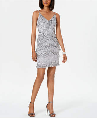 Adrianna Papell Bead Tiered Dress