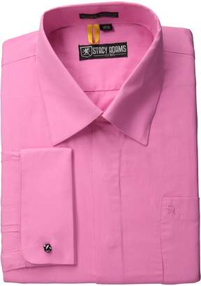 Stacy Adams Men's Long Sleeve Standard Fit Dress Shirt with Hidden Buttons