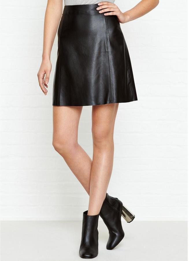 jigsaw a line leather skirt shopstyle co uk