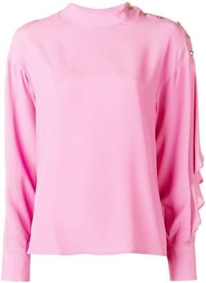 MSGM buttoned-shoulder blouse