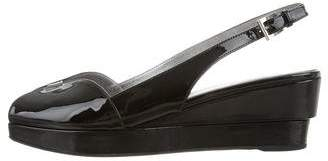 Prada Patent Leather Slingback Sandals