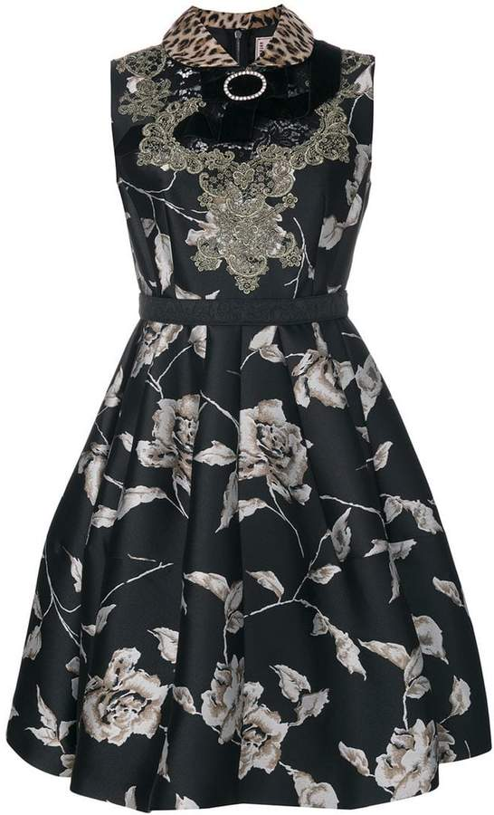 Antonio Marras bow detail floral dress