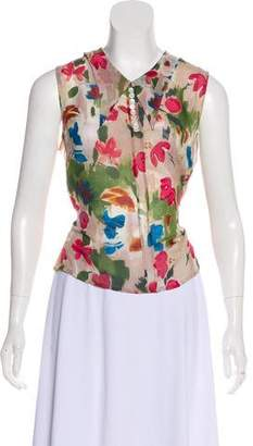 Dries Van Noten Silk Sleeveless Top