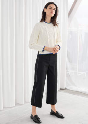 And other stories High Waisted Workwear Trousers