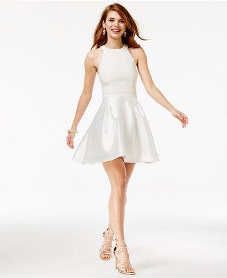 Trixxi Juniors' Halter Fit & Flare Dress $79 thestylecure.com