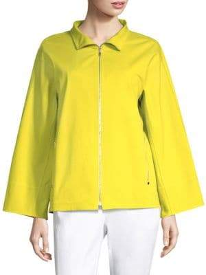 Lafayette 148 New York Ford Zip-Front Jacket