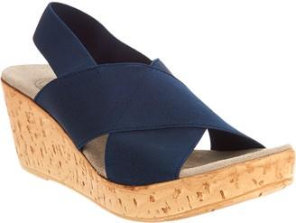Co Charleston Shoe Stretch Wedge Sandals - Med