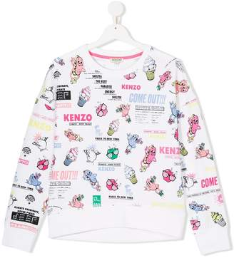 Kenzo cartoon print sweatshirt