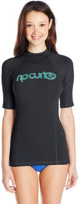 Rip Curl Women's Surf Team Short Sleeve Rash Guard