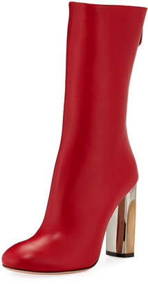 Alexander McQueen Tall Stretch Leather Booties