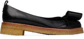 Lanvin Woman Bow-embellished Leather Ballet Flats Black Size 36