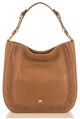 Brahmin Southcoast Eva Leather Tote - Brown $395 thestylecure.com