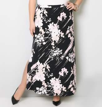 Avenue Floral Brushstroke Maxi Skirt