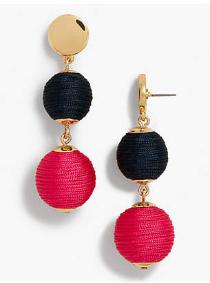 Talbots Thread-Wrapped Sphere Earrings