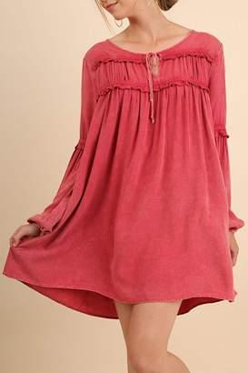 Umgee USA Washed L/s Dress