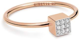 ginette_ny Mini Diamond Ever Square Ring