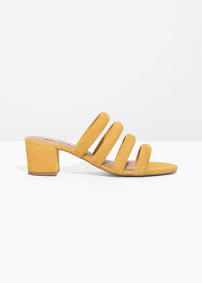 And other stories Heeled Suede Four Strap Sandal