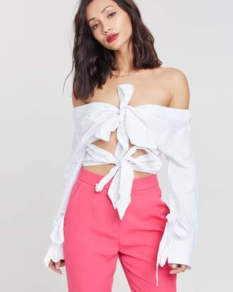 Missguided Double Knot Shirt Blouse