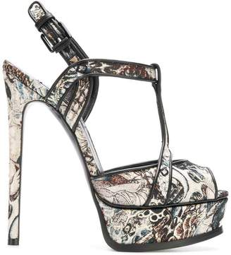 Casadei jacquard open-toe sandals