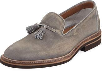 37fd9fe9f67 Suede Tassel Loafers For Women - ShopStyle
