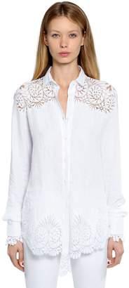 Ermanno Scervino Linen Shirt With Macramé Lace