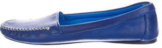 pradaPrada Round-Toe Leather Loafers