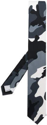 Valentino twill camouflage tie