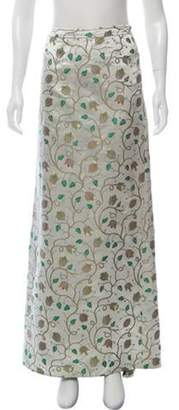 Prada Satin Maxi Skirt Silver Satin Maxi Skirt