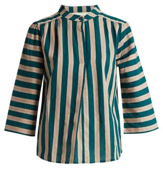 Ace&Jig Katherine Striped Cotton Top - Womens - Green Multi