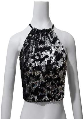 acf241e9110cd Yogurt Women Sexy Shiny Sequin Halter Neck Camis Backless Vest Crop Top  Shirts Clubwear Size L