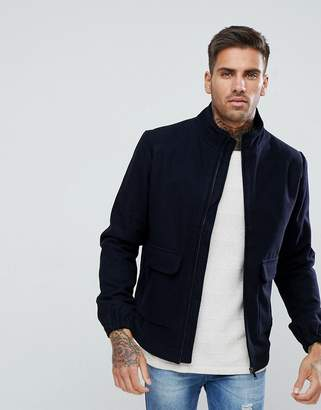 Bellfield Wool Blend Harrington Jacket