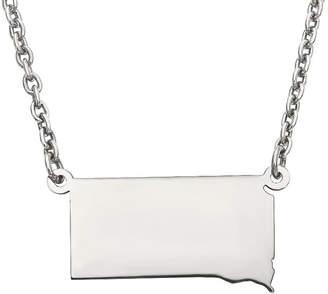 Dakota FINE JEWELRY Personalized Sterling Silver South Pendant Necklace
