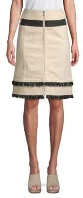 Derek Lam Zip-Front A-Line Skirt