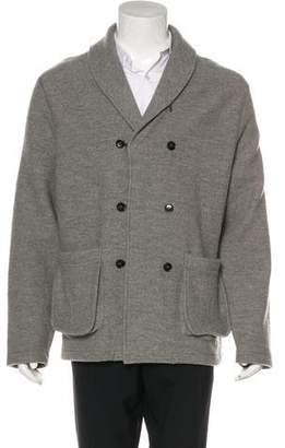 Billy Reid Wool Double-Breasted Jacket