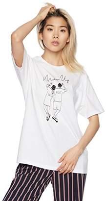 WEGO (ウィゴー) - [ウィゴー] Tシャツ ペアルックロゴプリントT レディース ホワイト 日本 F (Free サイズ)