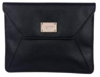 Michael Kors Leather Flap Clutch