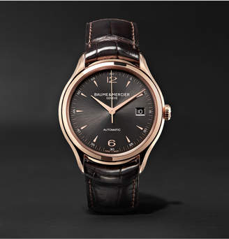 Baume & Mercier Clifton Automatic 39mm 18-Karat Red Gold and Alligator Watch