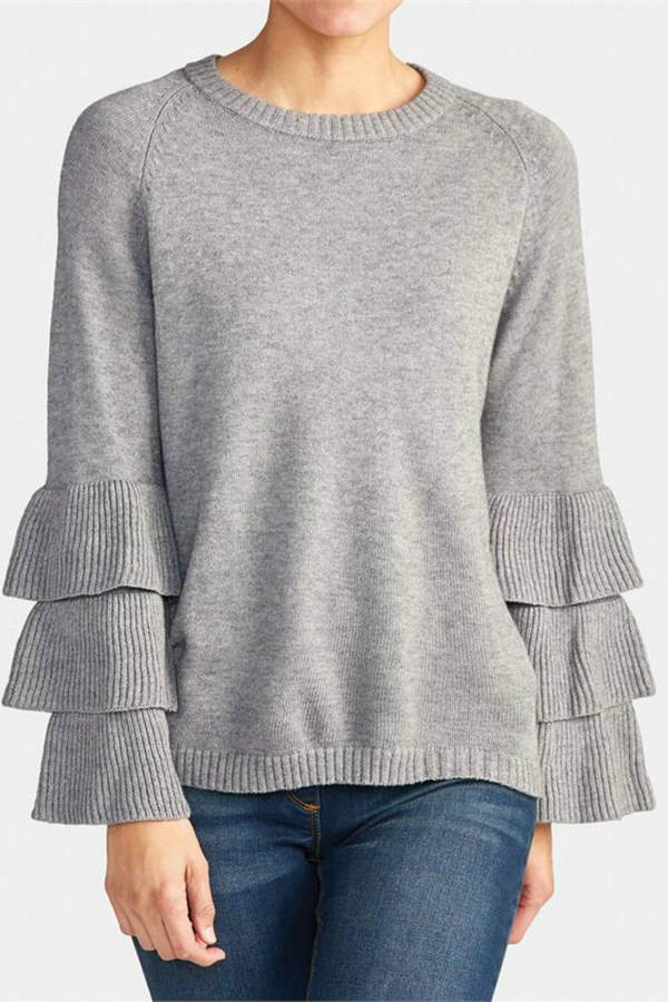 Coco + Carmen Tiered Sleeve Sweater